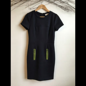NWT Stunning Michael Kors Dress with Neon Accents